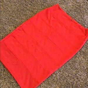 Burnt Orange pencil skirt